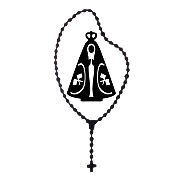 AD1500003 - Adesivo Terço N. Sra. Aparecida Preto - 15,5x7cm