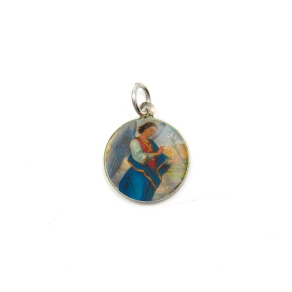 MD090001P5 - Medalha São Gabriel Arcanjo Alumínio Redonda c/ 5un. - 1,5x1,5cm