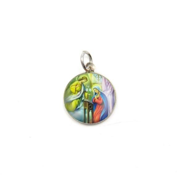 MD090003P5 - Medalha São Gabriel Arcanjo Alumínio Redonda c/ 5un. - 1,5x1,5cm