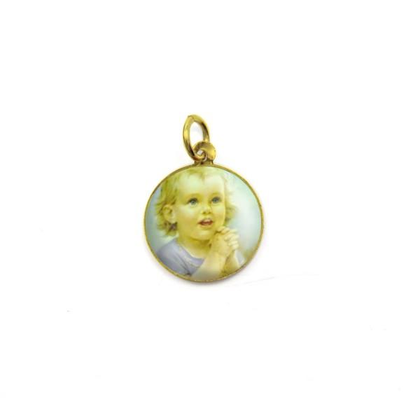 MD090022P5 - Medalha Anjinho Alumínio Redonda c/ 5un. - 1,5x1,5cm