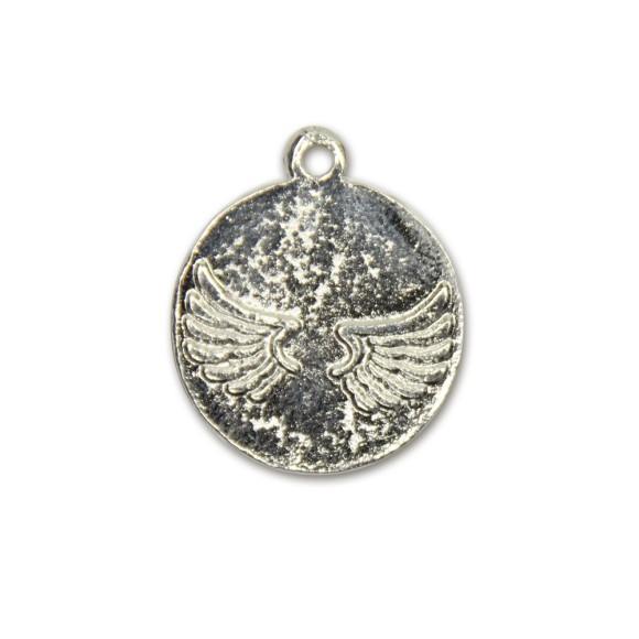 MD091010P2 - Medalha Anjinho Níquel c/ 2un. - 2,8x2,4cm