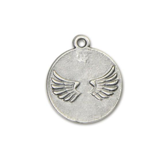 MD091011P2 - Medalha Anjinho Níquel Envelhecido c/ 2un. - 2,8x2,4cm