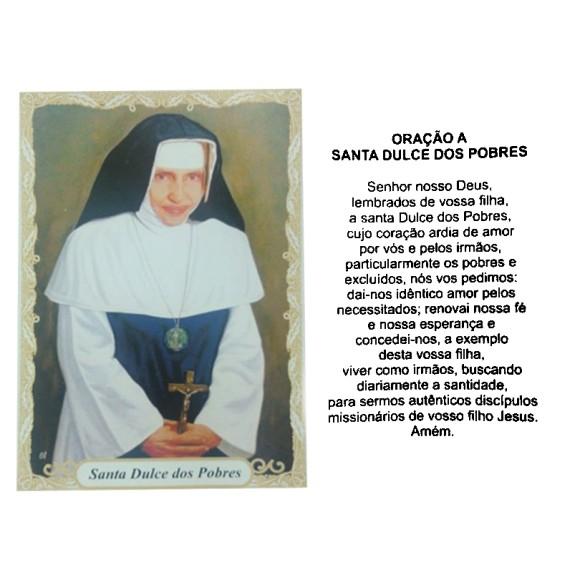 OG14050P100 - Oração Santa Dulce dos Pobres (Irmã Dulce) c/ 100un. - 9,5x6,5cm