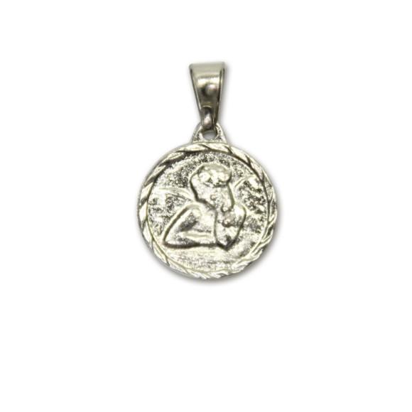 MD091020P6 - Medalha Anjo Pensador Níquel c/ 6un. - 1,5x1,4cm
