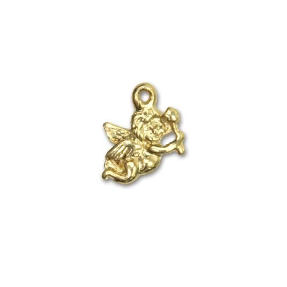 PG090015P6 - Pingente Anjinho Dourado c/ 6un. - 1,5x1,2cm