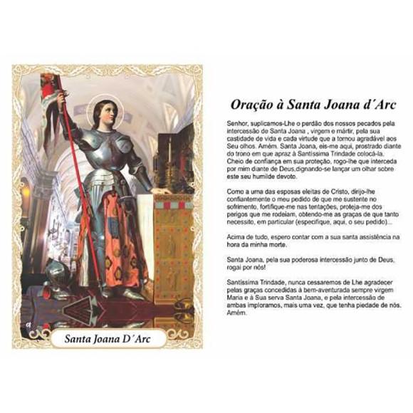 OG14053P100 - Oração Santa Joana D'Arc c/ 100un. - 9,5x6,5cm