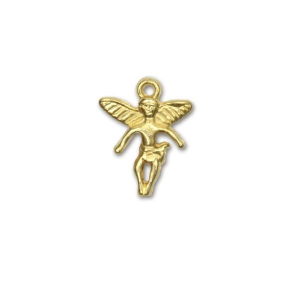 PG090030P6 - Pingente Anjinho Dourado c/ 6un. - 2x1,5cm