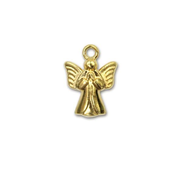PG090040P3 - Pingente Anjinho Dourado c/ 3un. - 2x1,5cm