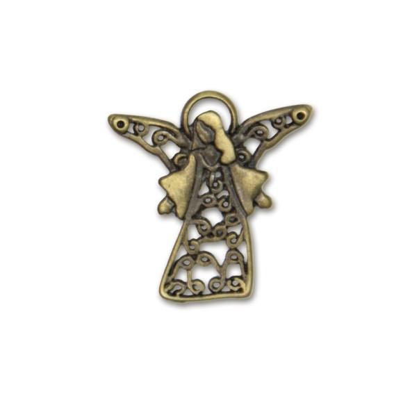 PG090062 - Pingente Anjinho Ouro Velho - 4x3,2cm