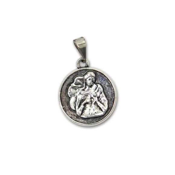 MD830015P2 - Medalha N. Sra. Desatadora dos Nós Níquel c/ 2un. - 2,5x1,8cm