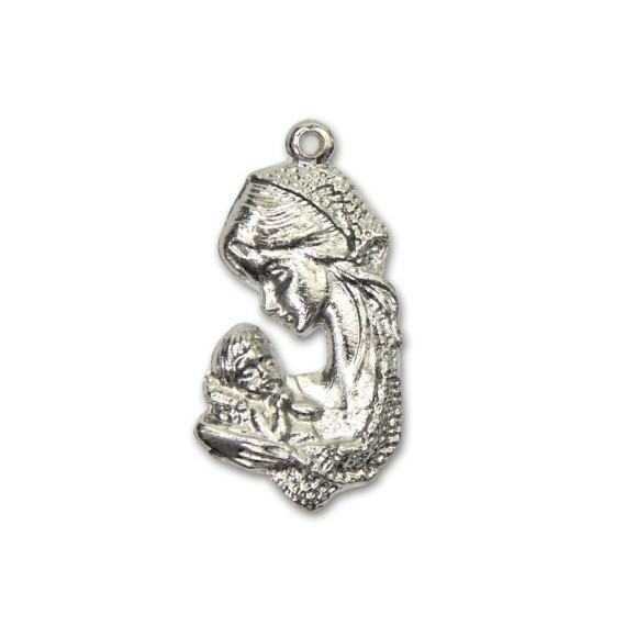 MD830025 - Medalha Nossa Senhora Níquel - 3,6x2cm