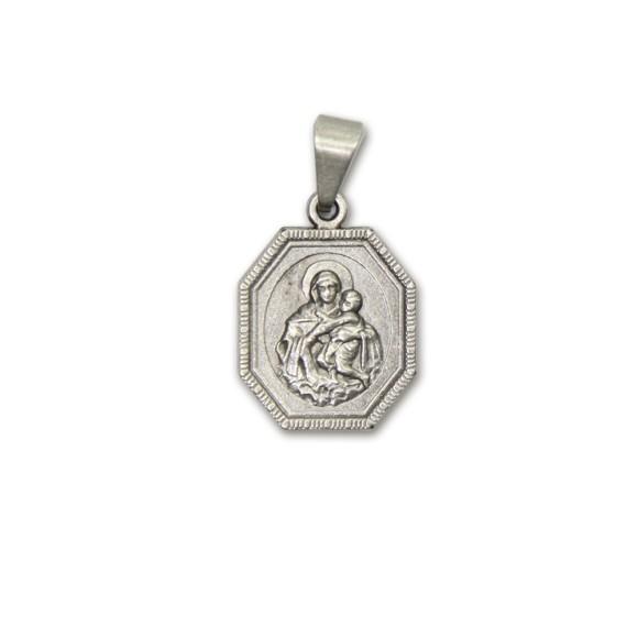 MD830030P2 - Medalha Mãe Rainha Níquel c/ 2un. - 2,8x1,6cm