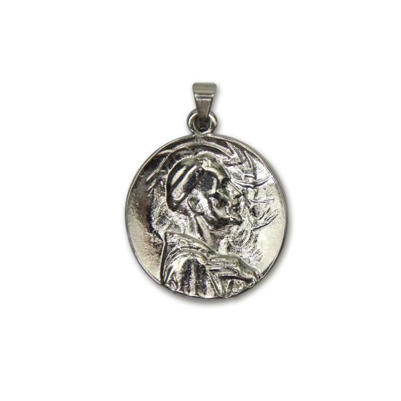 MD830420 - Medalha São Francisco de Assis Níquel - 4x3cm