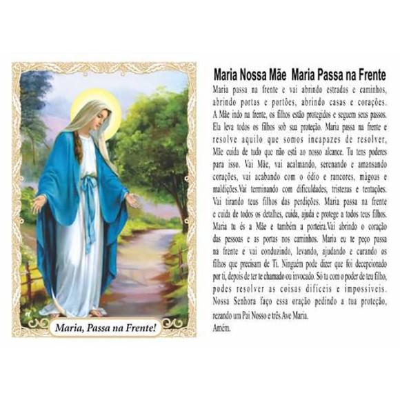 OG14061P100 - Oração Maria Passa na Frente c/ 100un. - 9,5x6,5cm