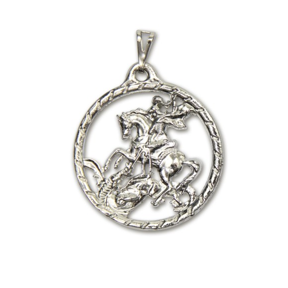 MD830440 - Medalha São Jorge Níquel - 5,5x4,1cm