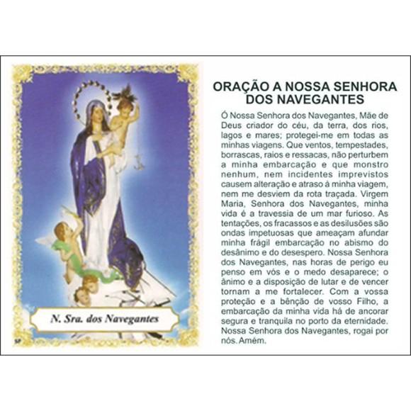 OG14091P100 - Oração N. Sra. Dos Navegantes c/ 100un. - 9,5x6,5cm