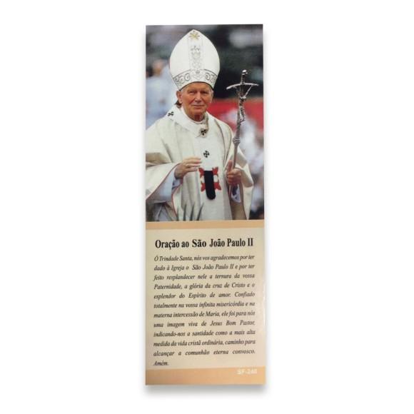 MP67218P50 - Marcador de Página Papa João Paulo II c/ 50un. - 15x5cm