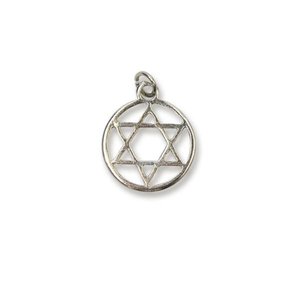 PG230015P2 - Pingente Estrela de Davi Níquel c/ 2un. - 2,3x1,8cm