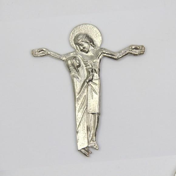 CW830001 - Cruz Jesus e Maria Níquel - 11x9cm