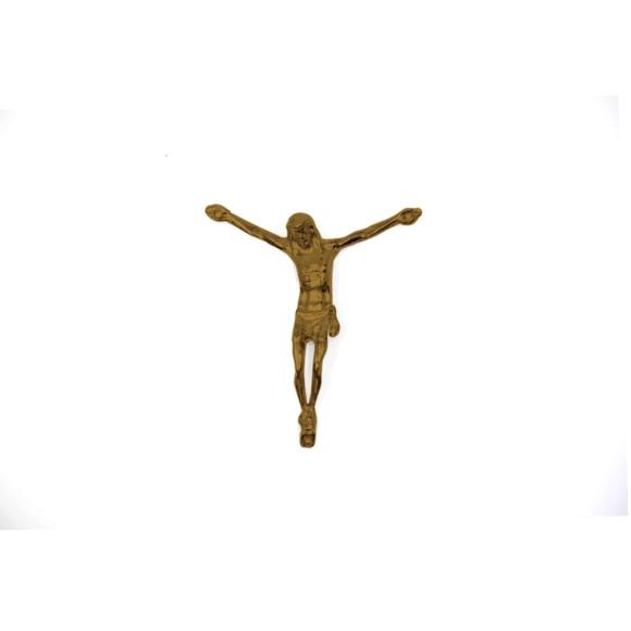 CW831103 - Jesus Cristo Crucificado Metal Ouro Velho c/ 2un. - 5X6cm