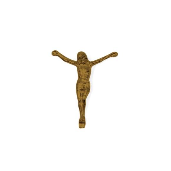 CW831104 - Jesus Cristo Crucificado Metal Ouro Velho c/ 2un. - 6X7cm