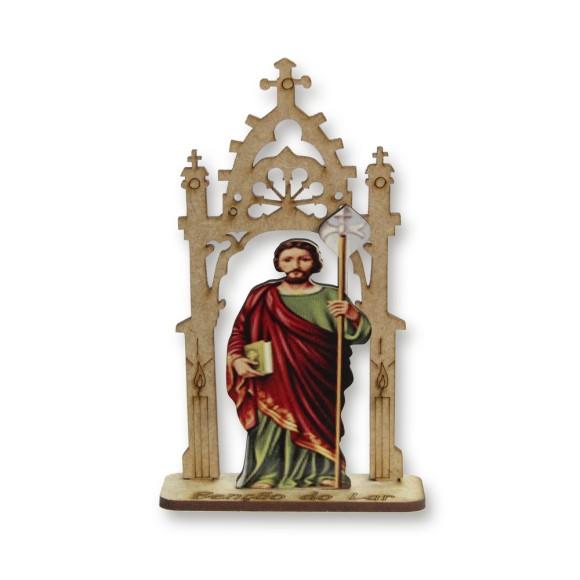 CP81457 - Capela São Judas Tadeu MDF - 12,5x7,5cm