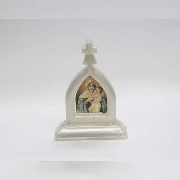 CP81701 - Capela Mãe Rainha Acrílico Branco - 7x5,2cm