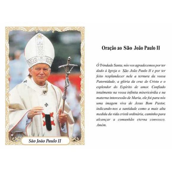 OG141432P100 - Oração São João Paulo II c/ 100un. - 9,5x6,5cm