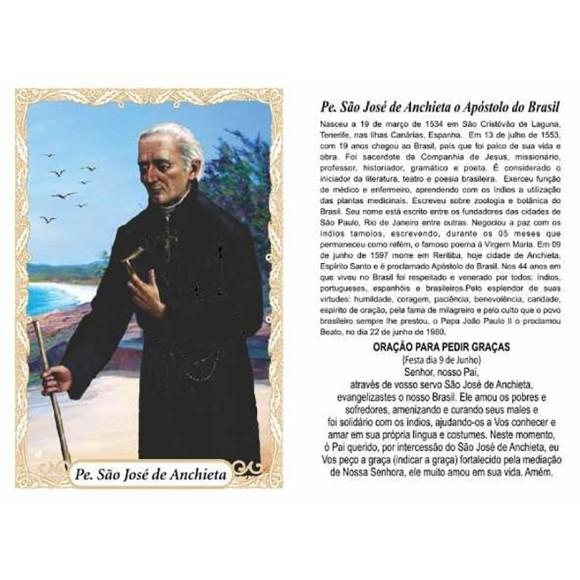 OG141434P100 - Oração Padre São José de Anchieta c/ 100un. - 9,5x6,5cm