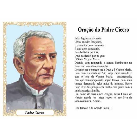 OG141444P100 - Oração Padre Cícero c/ 100un. - 9,5x6,5cm