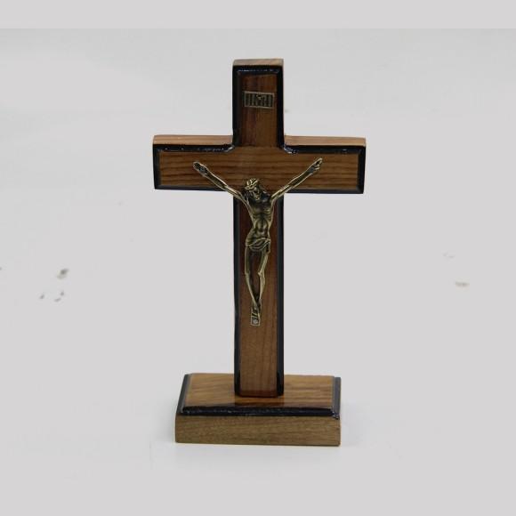 CU760050 - Pedestal Cruz Madeira - 19x10cm
