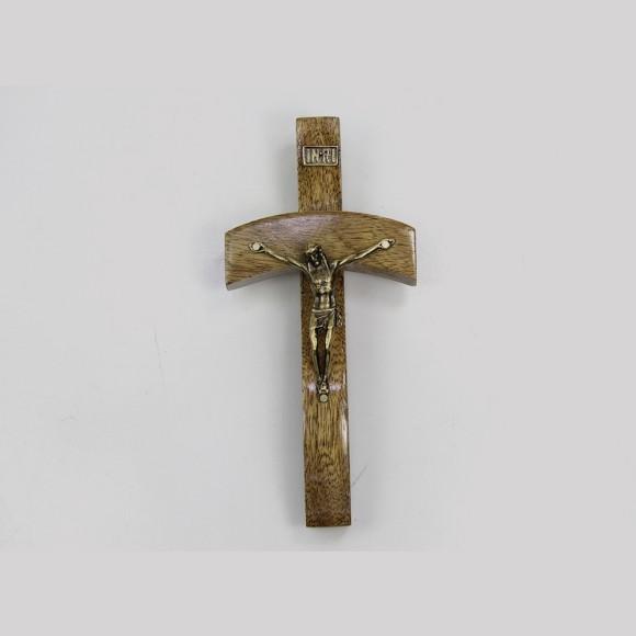 CW760165 - Crucifixo Madeira Clara - 15x7cm