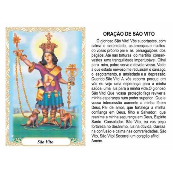 OG141456P100 - Oração São Vito c/ 100un. - 9,5x6,5cm