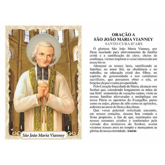 OG141472P100 - Oração São João Maria Vianney c/ 100un. - 9,5x6,5cm