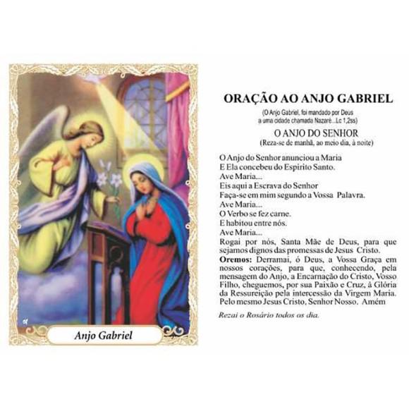 OG41802P100 - Oração São Gabriel Arcanjo c/ 100un. - 9,5x6,5cm