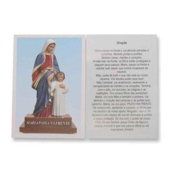 OG14099P100 - Oração Maria Passa na Frente c/ 100un. - 9,5x6,5cm