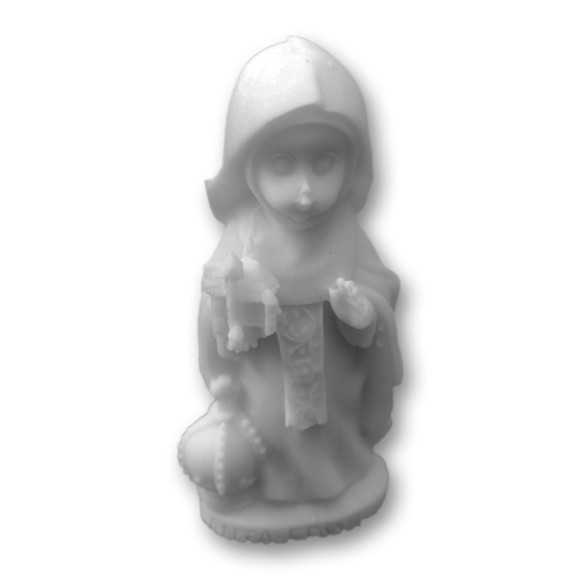 IM1150008 - Imagem Santa Edwiges Baby Resina - 8x3,5cm