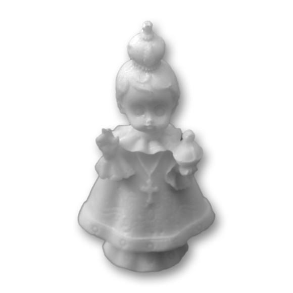 IM1150105 - Imagem Menino Jesus de Praga Baby Resina - 8x4,5cm