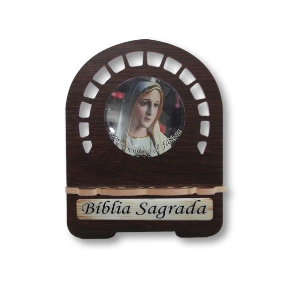 PB810300 - Porta Bíblia N. Sra. De Fátima MDF Resinado - 22x17,5cm
