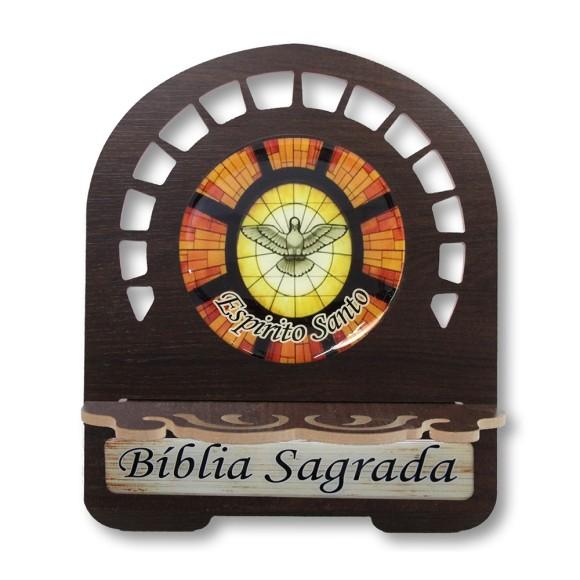 PB811900 - Porta Bíblia Divino Espírito Santo MDF Resinado - 26x21,5cm