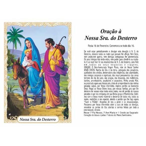 OP14011P100 - Oração N. Sra. Do Desterro c/ 100un. - 6x4cm