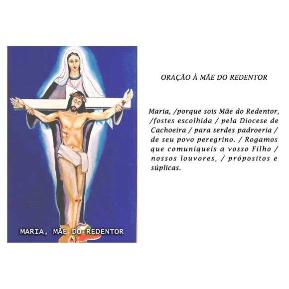 OP14024P100 - Oração Maria Mãe do Redentor c/ 100un. - 6x4cm