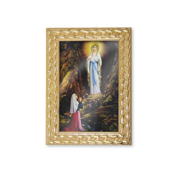 QD91020 - Quadro Moldura N. Sra. De Lourdes - 13x18cm