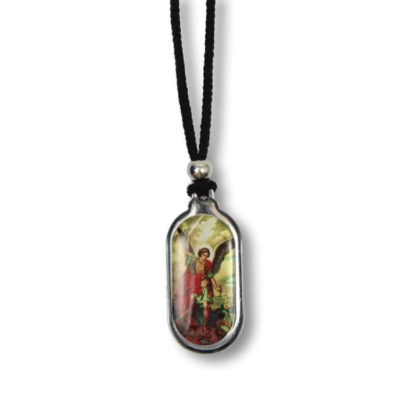 AS1340171 - Colar São Miguel Arcanjo Resinado - 35x1,7cm