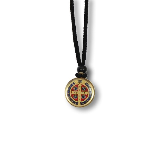 AS1340351 - Colar Medalha São Bento Resinado - 30x2cm