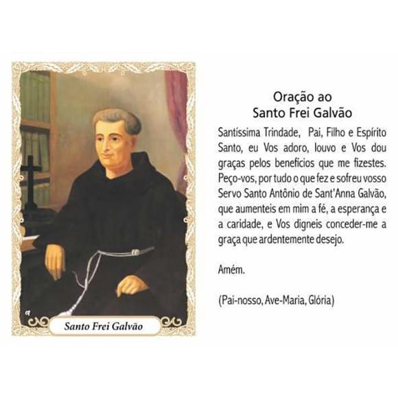 OP141410P100 - Oração Santo Frei Galvão c/ 100un. - 6x4cm