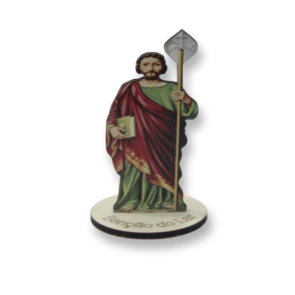 AO291107 - Pedestal São Judas Tadeu MDF - 9x5,2cm