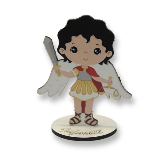 AO292581 - Pedestal São Miguel Arcanjo Infantil MDF - 9,5x7,5cm