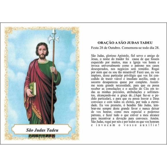OP141418P100 - Oração São Judas Tadeu c/ 100un. - 6x4cm
