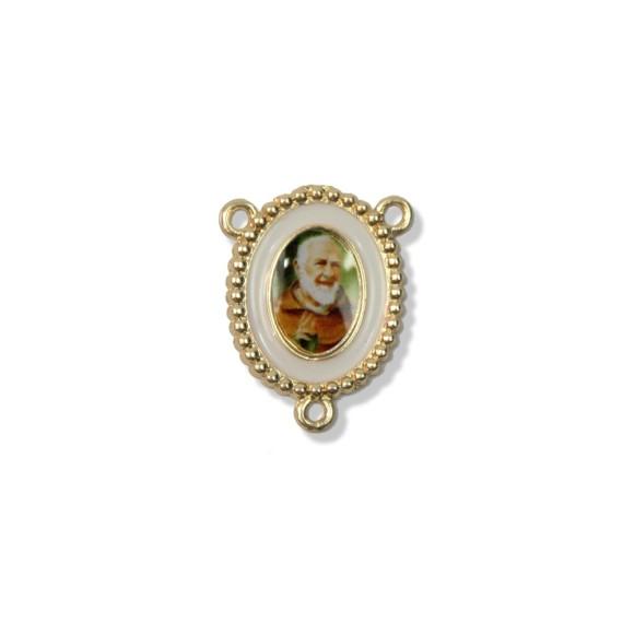 ET1640720 - Entremeio São Padre Pio Pietrelcina Resinado. - 2,7x2,2cm